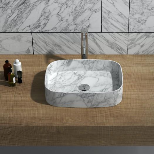Lavabo à poser Perseis en Marbre Carrara