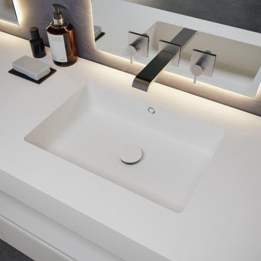 Plan Double vasque en Corian® Quiet