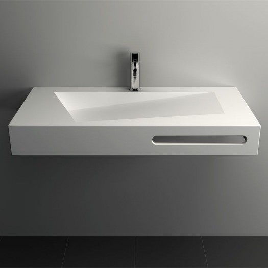 Lavabo mural Quince en Solid Surface