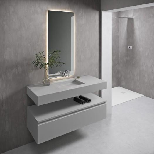 Vasque suspendue en Corian® Silver Gray Alabama