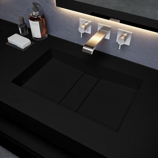 Double vasque Corian® Deep Nocturne Area
