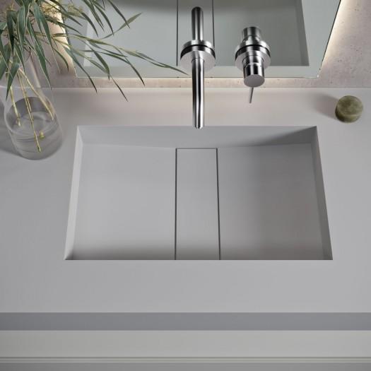 Vasque suspendue en Corian® Silver Gray Area