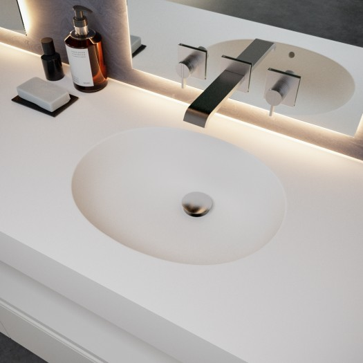 Double vasque en Corian® Calm