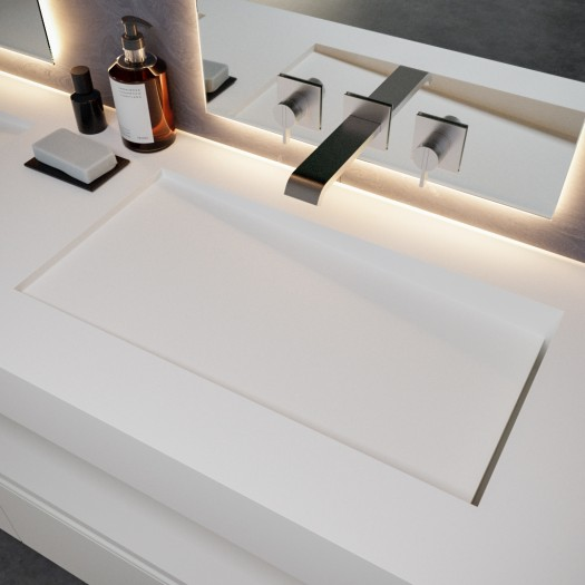 Double Vasque en Corian® Canada