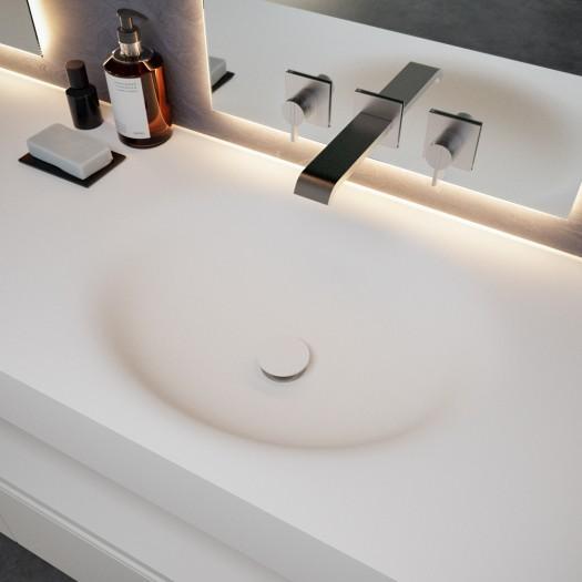 Double Vasque en Corian® Oval