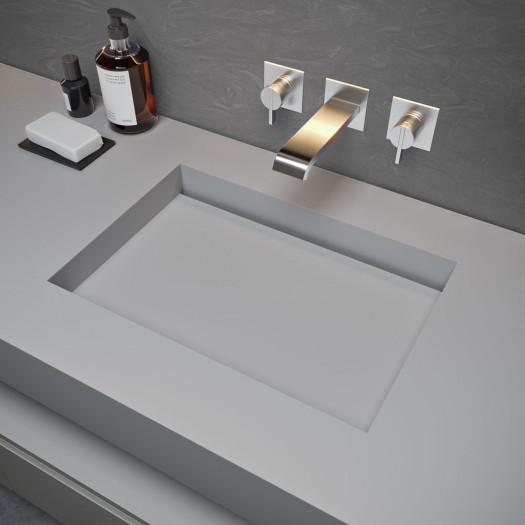 Double vasque Corian® Silver Gray Seattle