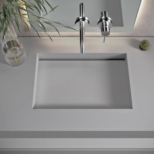 Vasque suspendue en Corian® Silver Gray Seattle