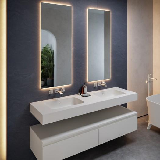 Double vasque en Corian® Serenity 7530