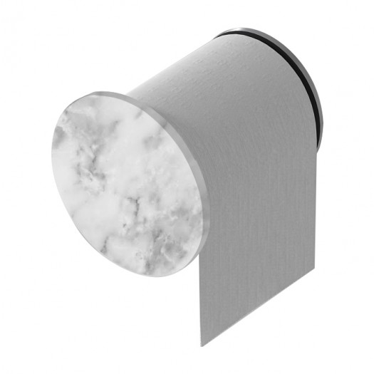 Dérouleur papier toilette Tom en marbre Carrara