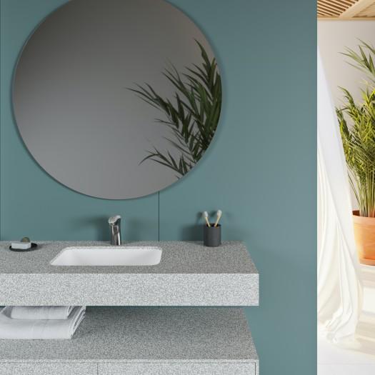 Double Vasque en Corian® Pebble Terrazzo Toronto
