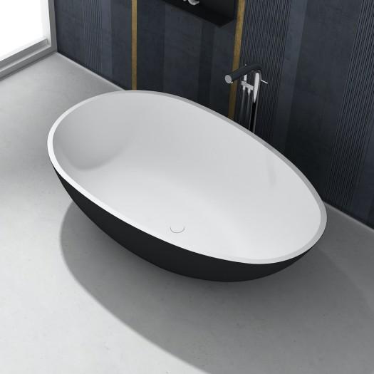Baignoire Ilot Toulouse Black & White 178cm