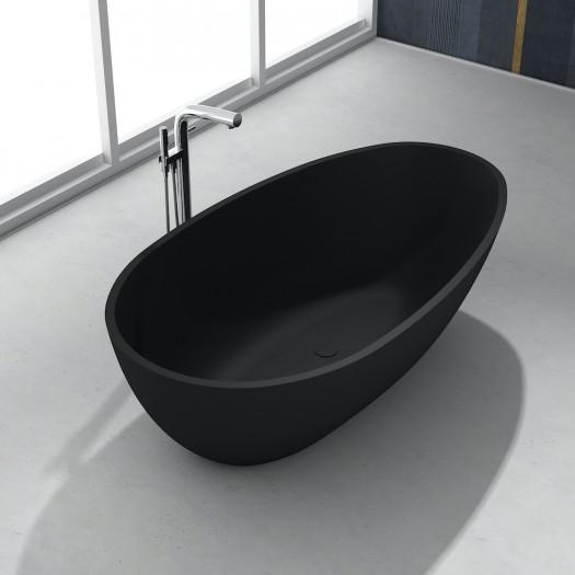 Baignoire Ilot Toulouse Black en Solid Surface 178cm