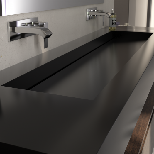 Vasque en Corian® Deep Nocturne Georgia