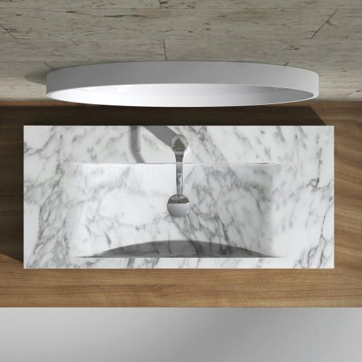 Lavabo à poser en Marbre Carrara S1 100cm