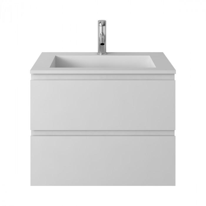 Meuble-vasque Arona en Solid Surface - 2 tiroirs