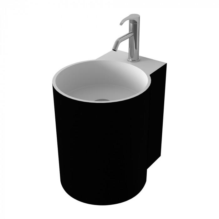 Lavabo à suspendre Bloom Mini - Noir et Blanc