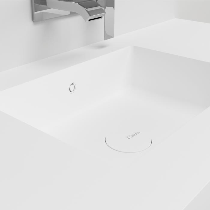 plan vasque en corian square lavado design solid surface. Black Bedroom Furniture Sets. Home Design Ideas