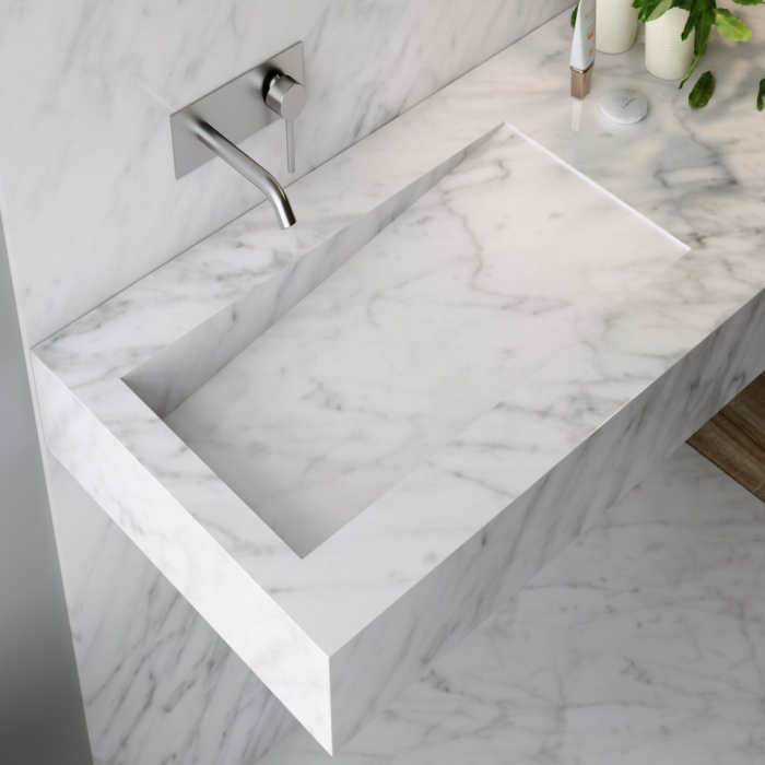 Vasque en Marbre Authentique Carrara C3