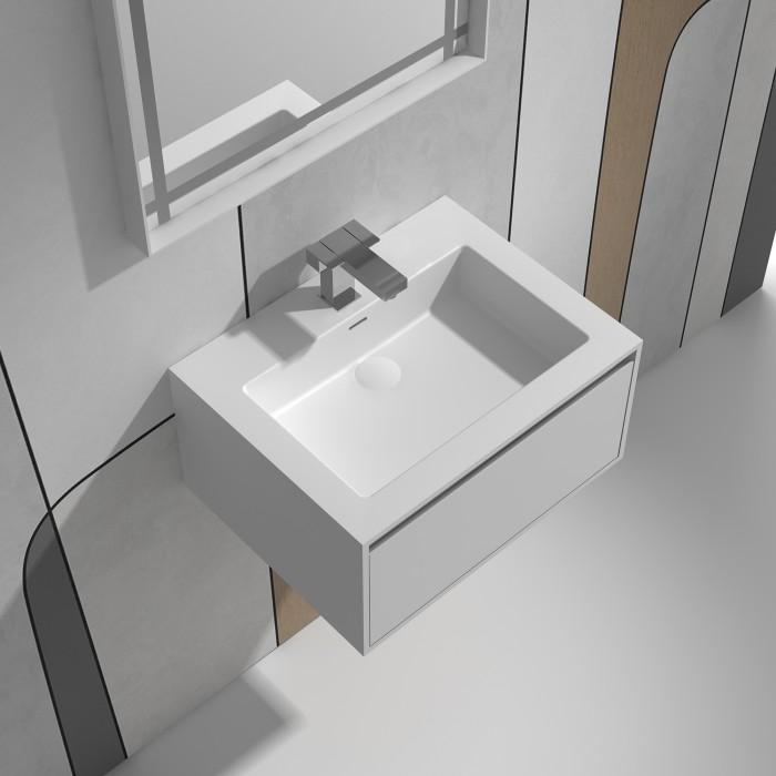 Meuble-vasque June en Solid Surface - 1 tiroir