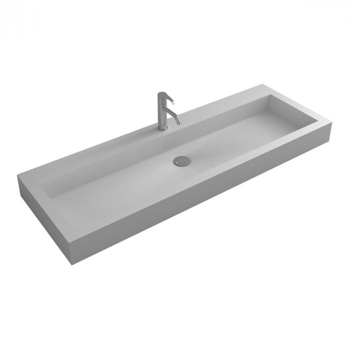 Lavabo mural Prunus 150 en Solid Surface