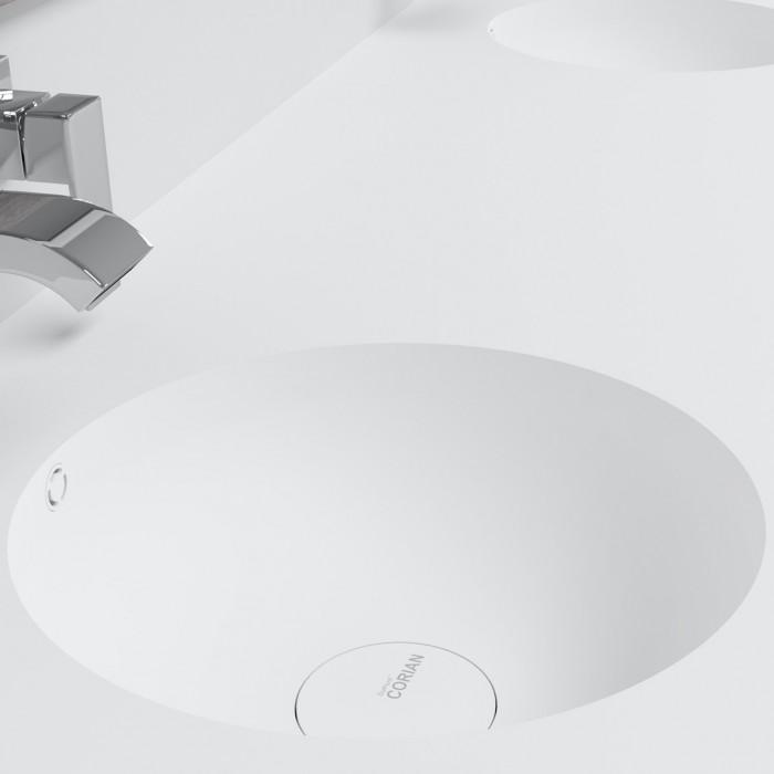 Ensemble Double Vasque Corian® Purity + Meuble 2 Tiroirs alignés