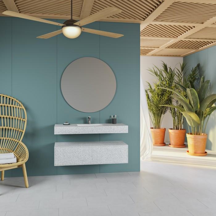 Vasque Refresh en Corian® Colour Domino Terrazzo