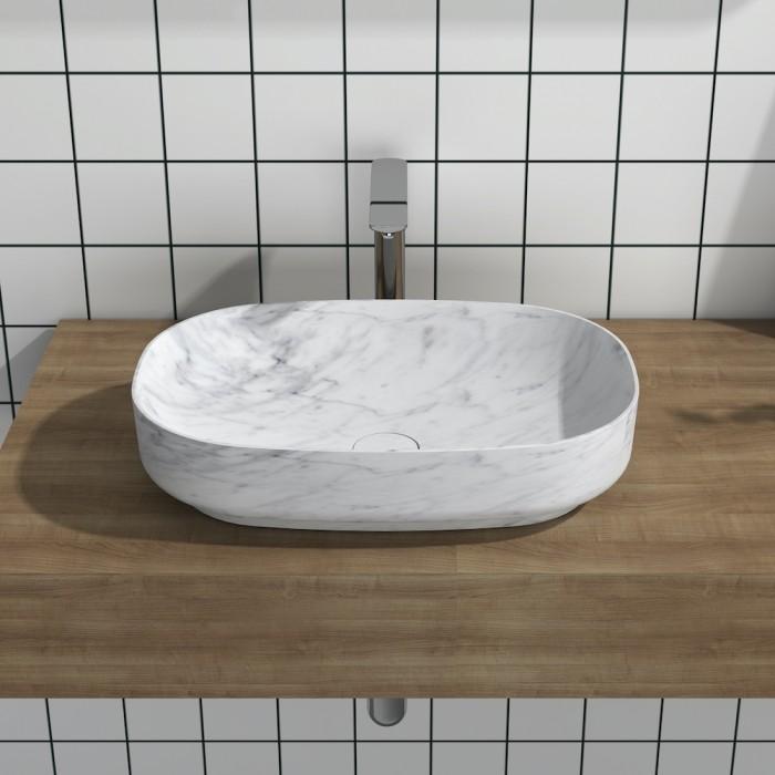 Lavabo à poser en Marbre Carrara P1