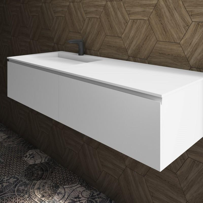 ensemble vasque corian tennessee sur meuble suspendu 2 tiroirs align s mobilier salle de bains. Black Bedroom Furniture Sets. Home Design Ideas