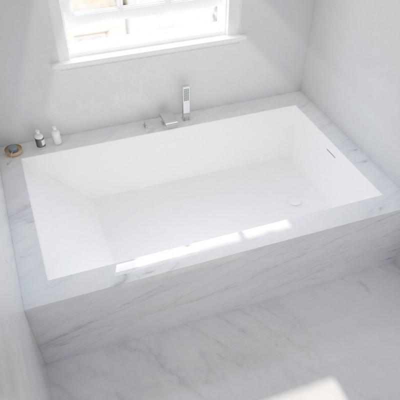 baignoire sur mesure en corian encastrer salle de bains tendance. Black Bedroom Furniture Sets. Home Design Ideas