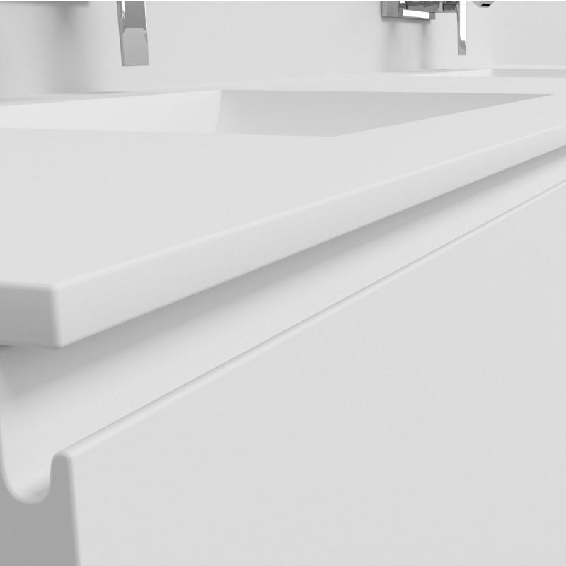 Ensemble vasque corian refresh sur meuble suspendu 2 for Meuble lavabo sur mesure