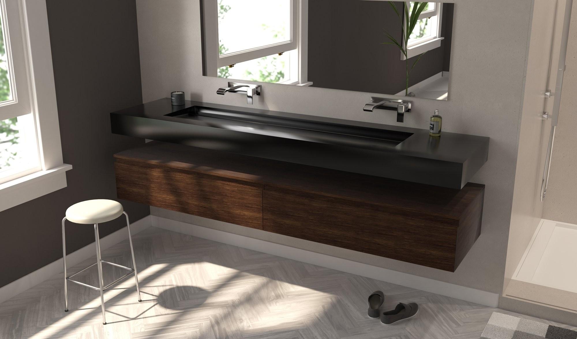 Plan Vasque Sur Mesure vasque corian® deep nocturne alabama plus - lavabo solid