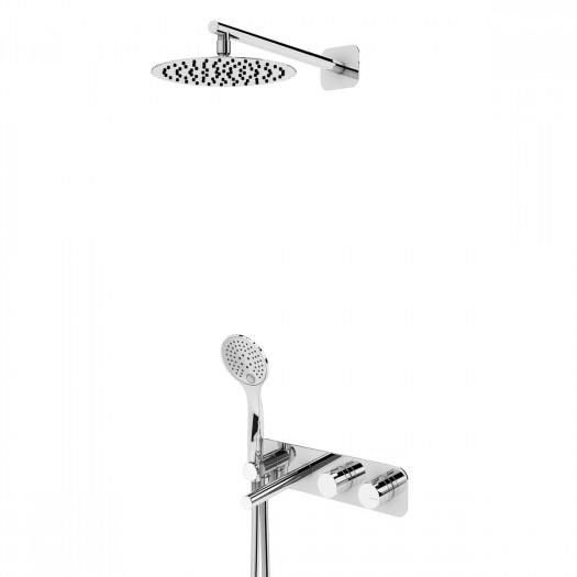 Kit de bain-douche thermostatique encastré BRUMA - 1843501CR