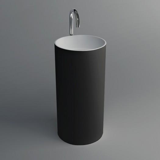 Lavabo colonne Joy Black en Solid Surface