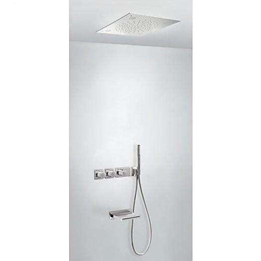 Kit thermostatique baignoire encastré BLOCK SYSTEM CHROMOTHERAPY Tres - 20735307