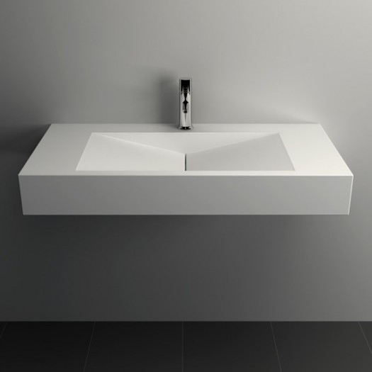Lavabo mural Anemone 120 en Solid Surface