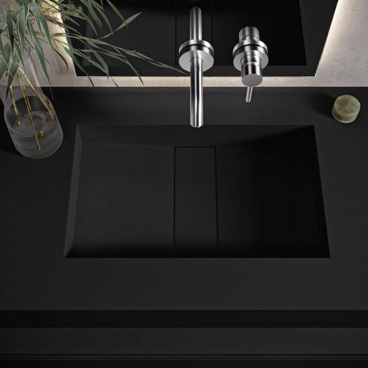 Vasque suspendue en Corian® Deep Nocturne Area