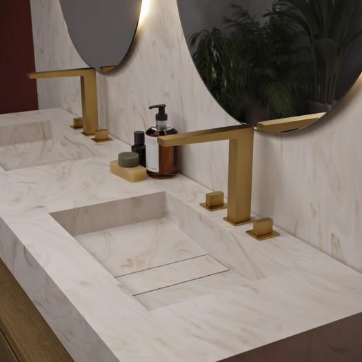 Double vasque en Corian® Sand Storm Area