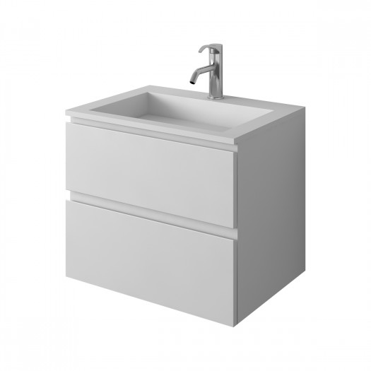 Meuble-vasque Arona en Solid Surface - 2 tiroirs