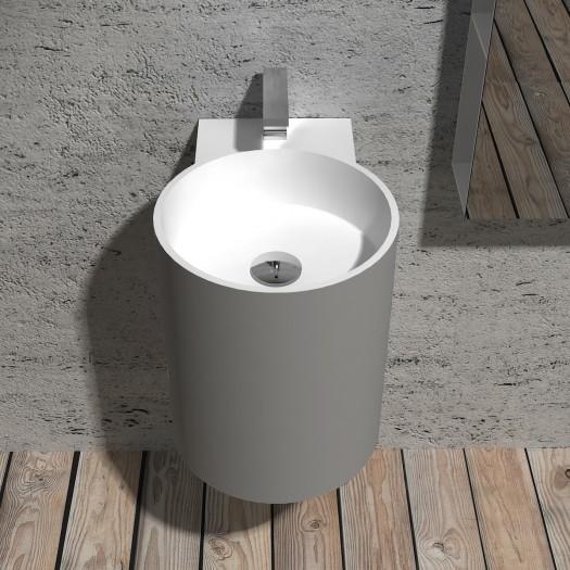 Lavabo à suspendre Bloom Mini - Gris et Blanc