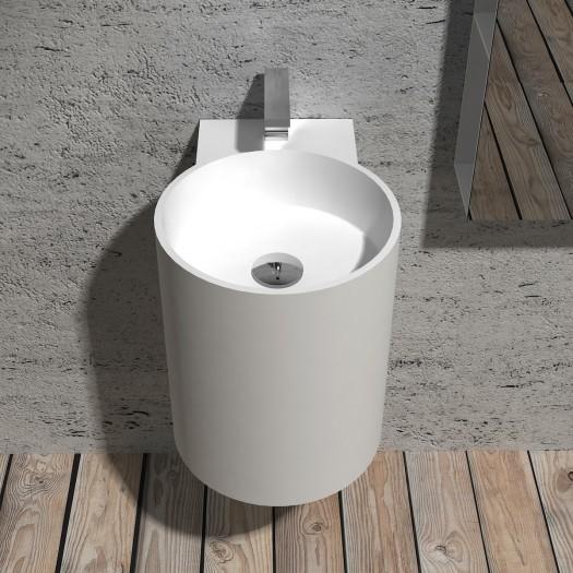 Lavabo à suspendre Bloom Mini en Solid Surface