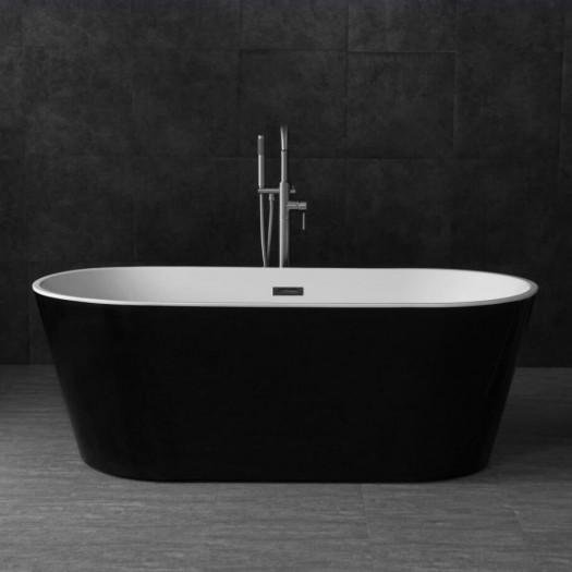 Baignoire ilot Bruges noire et blanche - 150cm