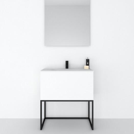 Meuble Combi sur base métallique 1 Tiroir + Plan vasque Corian®