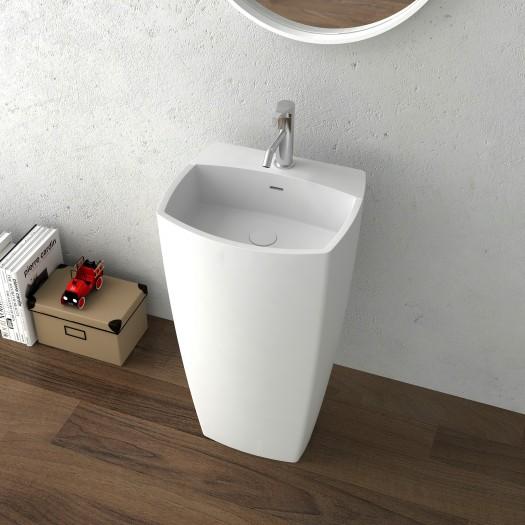 Lavabo colonne Charm en Solid Surface