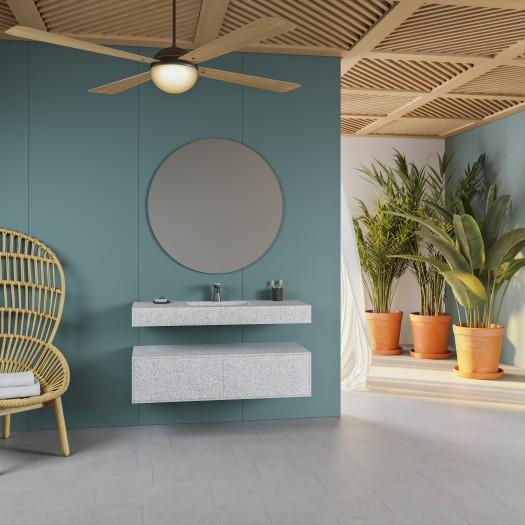 Vasque Alabama en Corian® Colour Domino Terrazzo