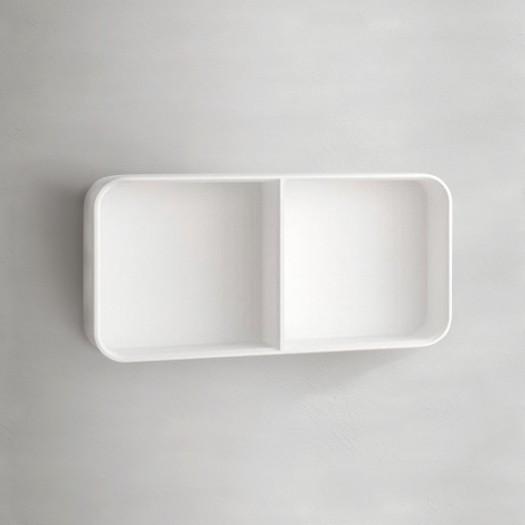 Étagère murale Cubo 60 Double en solid surface