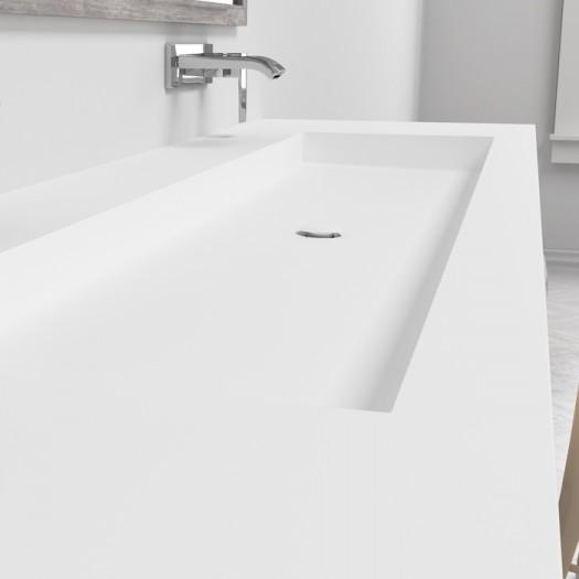Plan Vasque en Corian® Indiana