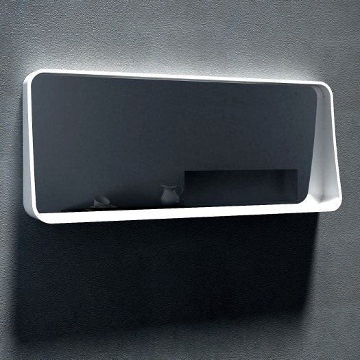 Miroir Drop 120 en Solid Surface
