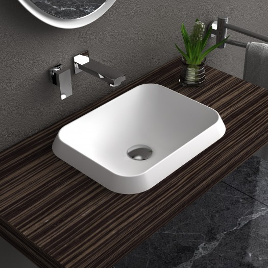 Lavabo à poser en Solid Surface Falda Rectangle