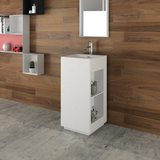 Lavabo colonne Glee en Solid Surface