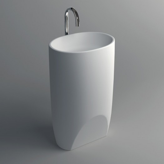 Lavabo colonne Grace en Solid Surface